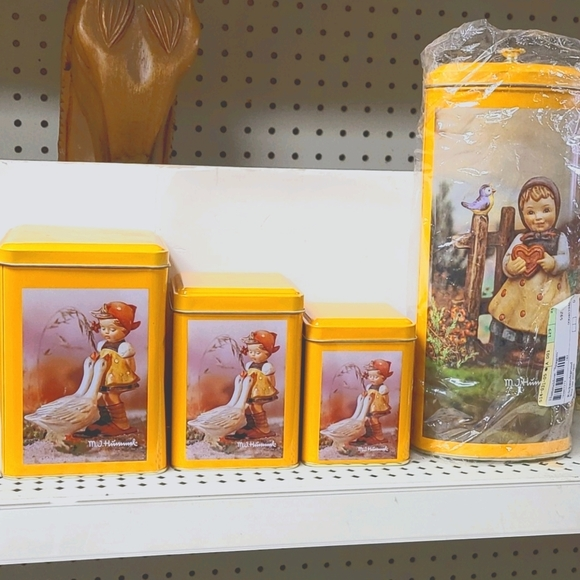 Vintage Rare  Hummel tin canisters lot of 4pcs